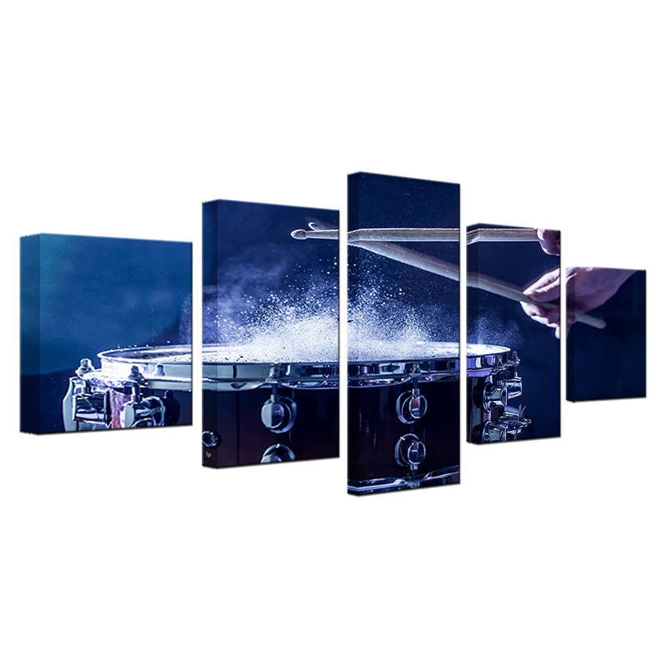 Wall-Art-Canvas-Paintings-Modular-Home-Decor-HD-Prints-5-Pieces-Drums-Pictures-Musical-Instruments-Posters (5)