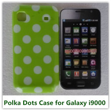 1PCS Pink Color Polka Dots Skin Pouch Back Case for Samsung Galaxy S i9000 Cellphone Bags(China)