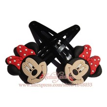 1pair Mickey Minnie Hair Accessories Hair Elastic Bands hairpins for girls gifts fit Event/Children's Day Supplies gifts