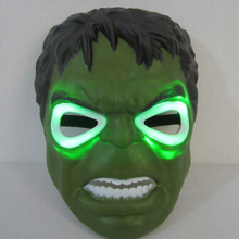 High Quality Plastic LED Cartoon Hulk Masks Lighting Halloween Mask, JSF-Masks-023