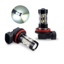 Car Fog Light PSX24W H16 H11 H8 H10 H3 9006 LED Bulb 50W DRL Lamp For VW bora jetta golf 7 passat b5 b6 mk4 beetle caddy touareg(China)