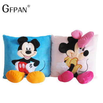GFPAN 1PC 35*35cm Plush Cartoon Mickey Mouse Minnie Soft