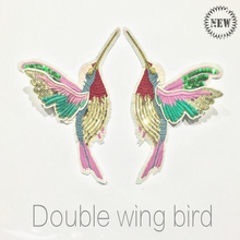 1 Pair 3D Paillette Sequin Embroidery Birds Patch Applique Sew On Clothes Shirt Docarate Accessory Patchwork Diy ZC03(China)