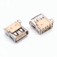 10pcs/lot USB socket / AF mother / 4P full SMD / USB female type A USB connector endless flat(China)