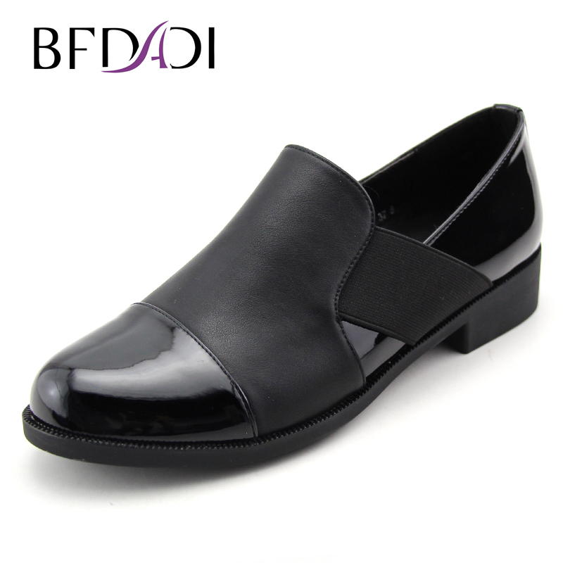 BFDADI Flats British Style Casual comfort Shoes Women Autumn Flat Heel Shoes Elastic Womens Shoes Retro H140-M635<br>