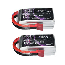 2pcs HRB RC Lipo Battery 3S 11.1V 1500mah 25C Max 50C with Deans XT60 JST Plug For RC Helicopters Airplane FPV Drone KT Plate(China)
