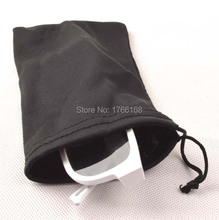 100PCS 9*17cm Black Microfiber Sunglasses eyewear Pouch Spectacle Glass Cloth Bag Pouch custom glasses pouch available(China)