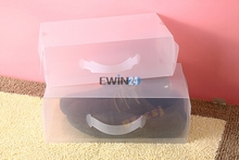 1 x Men's Women's Clear Plastic Shoe Storage Boxes Containers Trainers Size 8 9 10 11 12(China)