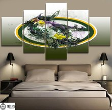 5 Panel NFL Green Bay Packers Canvas Printed Painting For Living Room Picture Wall Art HD Print Decor Modern Artworks Poster