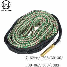 Woltis 7.62 mm / .308/ 30-30/ .30-06/ .300/ .303 Caliber BoreSnake Rifle Cleaner Hunting Bore Snake Rope Barrel Gun Cleaning(China)