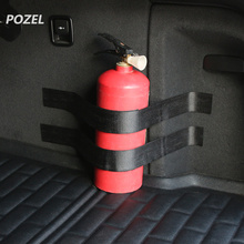 Black Roll Bar Fire Extinguisher Holder Car Styling For SEAT Ibiza Leon Toledo Exeo FR Altea Cordoba cupra concept(China)
