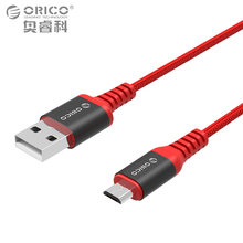 ORICO Scharge Micro to USB-A Cable 1m/3ft Charging Cord Black/Red Sync Cable for Smart Phone Tablet Kevlar Material