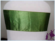 Hot Sale Dark Green Chair Sashes For Weddingsu0026 Chair Cover Sashes Bows U0026  Party(China