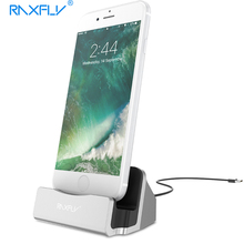 RAXFLY Phone Charger Dock For iPhone 5 5s SE 7 7 Plus Portable Charging Desktop Holder Stand For i6 6s Plus Mini Chargers(China)