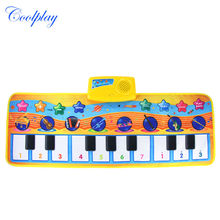 1 PCS Baby Play Musical Carpet Baby piano Mat Children Developing Intelligence Rug Carpet Educational Learning Toys for Kids(China)