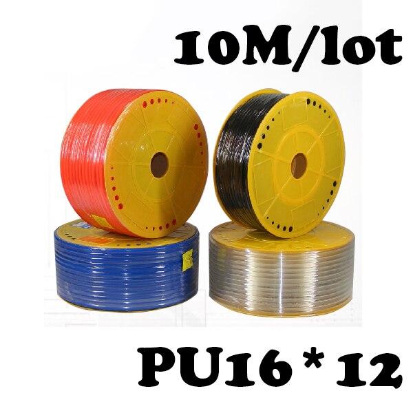 PU Pipe 16*12mm for air &amp; water 10M/lot  ID 12mm OD 16mm Pneumatic parts pneumatic hose<br>