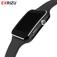 EXRIZU X6A Bluetooth Smart Watch Phone Support SIM TF Card Pedometer Fitness Tracker Camera Music Smartwatch for Mobile Phone(China)