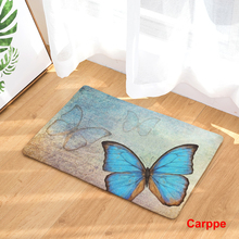 Doormat Carpets Butterfly Print Mats Floor Kitchen Bathroom Rugs 40X60or50x80cm(China)