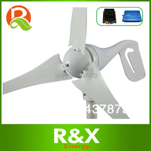 400W Horizontal wind generator 12V/24V used for home. Combine with wind/solar hybrid controller(LED display)+600w inverter.