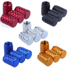 4Pcs/lot Bike Wheel Tire Covered Car Motorcycle Truck universal Tube Tyre Bicycle AV SV American AIR Valve Cap Dustproof 5 color(China)