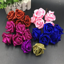 50pcs/lot flower head Bling bling high quality DIY wedding wreath LEAD flower bride hand flower handcraft flower shop hot sell!(China)