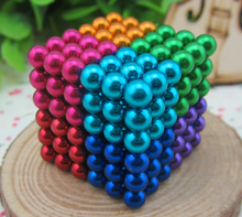 216 pcs Magic Magnet Magnetic DIY Beads Puzz Balls 3D Magic Kids Toys Option 5mm Buck Balls 10 Colors In Stock(China)