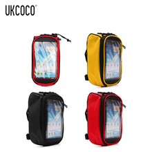 Waterproof Bicycle Frame Bag Bike Top Tube Bag With High Sensitive Touch Screen Multi-Function Smartphone Bag Up To 5.5 Inch(China)