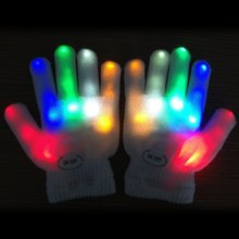 2016 Rave LED Fingers Flashing Gloves  Finger Light Up Glow Gloves Christmas festive supplies