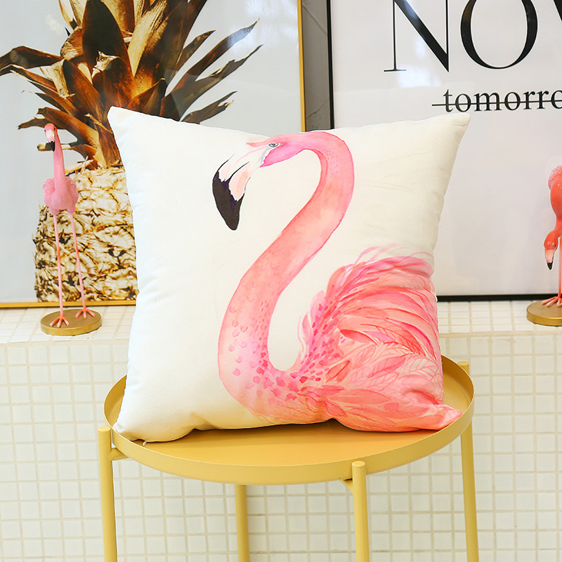 Cute Flamingo Cushion Pillow Case Flamingo Party Bedroom Sofa Home Decoration accessories Birthday/Wedding Favors and Gifts 12