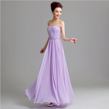 formal purple 2017 womens floor length plus size chiffon party prom formal girls dressy dress design free shipping S2714