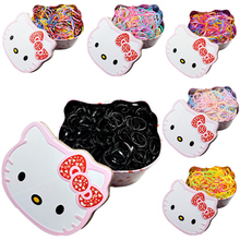 Norvin Big Cartoon Box New Child Baby TPU Hair Holders Rubber Bands Elastic Hair Bands Girl's Tie Gum Hair Accessories Many Pcs(China)
