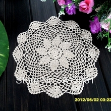 2015 new arrival 12 pic/lot 28cm round lace doily cotton pad table mat as cup pad coaster crochet towel cover placemat tableware