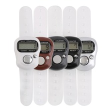 5Pc Mini Digit LCD Electronic Digital Golf Finger Hand Held Tally Row Counter Wholesale