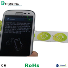 1000pcs/pack 30*30mm RFID F08 NFC Smart Tag Sticker HF Passive RFID Mobile Phone Label For Mobile Payment