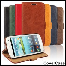 For Samsung Galaxy S3 Phone Case Cover Leather Mobile Bag Accessory Fundas For Samsung Galaxy S3 Mini i8190 Cases Cover Coque(China)