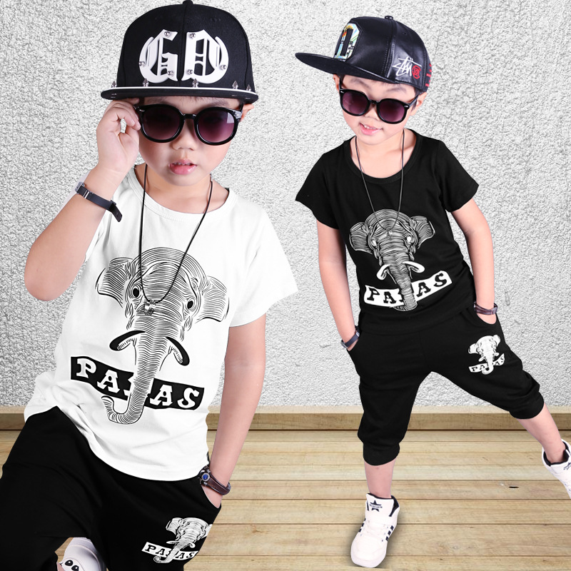 The new fashion trend in sports cuhk childrens dance suit short sleeve shorts two woolly<br>