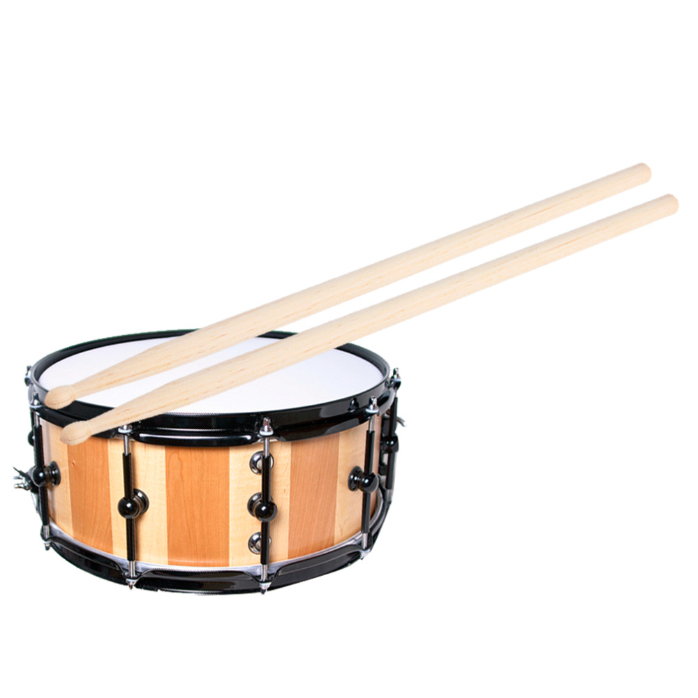Hot Sale! 1 Pair of 5A Maple Wood Drumsticks Stick for Drum Drums Set Lightweight Professional I344(China)