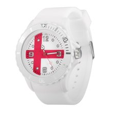 New Arrival 2018 Football World Cup Wristwatches Japanese/England/Italian Flag Pattern Quartz White Round Unisex Wrist Watch(China)