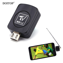 DOITOP Mini Mobile TV Micro USB DVB-T TV Digital Mobile Tuner Stick Receiver Dongle For Android Phone DVB-T Android HDTV Dongle(China)