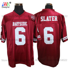 Cheap American Football Jerseys AC Slater 6 Bayside Tigers High School Throwback jerseys Retro Red Stitched Shirt for Mens(China)