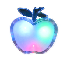 Energy-saving LED Apple Shaped Colorful Nightlight Wall Lamp Home Decoration    ALI88
