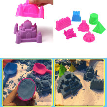 7Pcs/Set Large Size Portable Castle Sandcastle Beach Sand Mould Toy Children Kids
