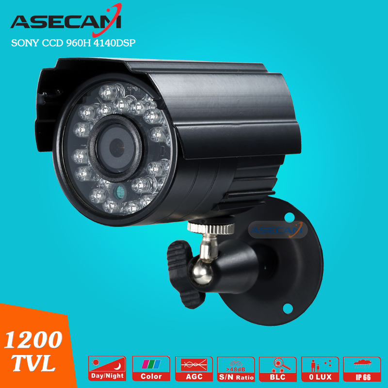 Asecam Sony CCD 960H Effio 1200TVL CCTV MINI  Bullet Surveillance Outdoor Waterproof 24led infrared Security Camera <br>