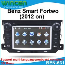"7"" Car DVD Player for Mercedes Benz Smart Fortwo (2008 on) with 3D Menu multi-languages onboard computer Free Shipping & Map(China)"