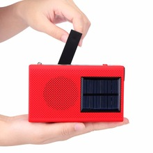 TIVDIO Hand Crank Solar FM Emergency Radio MP3 Player with Cell Phone Charger &Flashlight & Alarm Y4412C