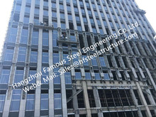 Double/Triple Insulated Fire Glass Facade Curtain Walling Units Structural Glazing Stick Built System