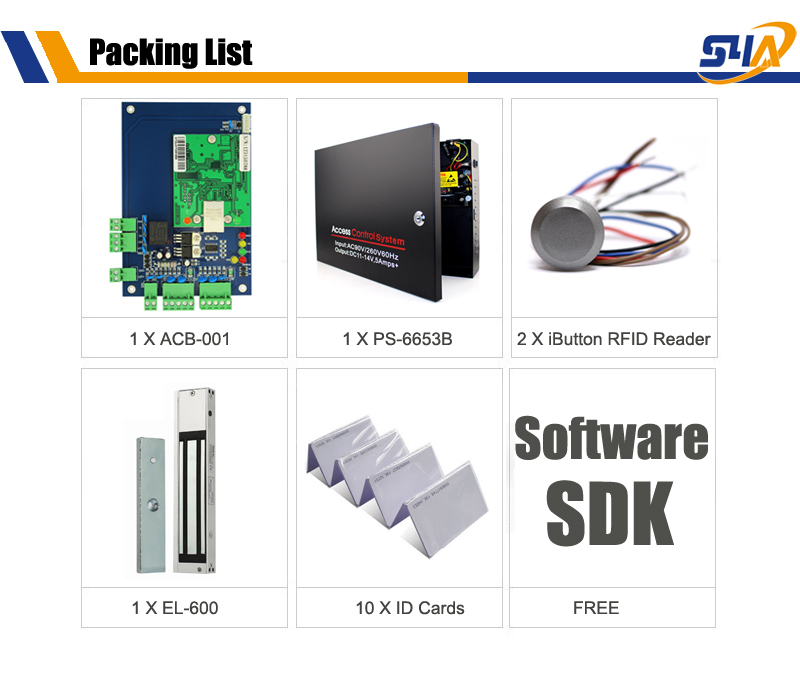 ACB-001 iButton Reader Packing list