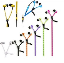 Earphones With Mic Creative Stereo Zipper Hands-Free And Fantastic Zip Cable Wired 3.5 High Quality Nice Gift(China)