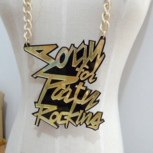 womens clothing accessoriesAcrylic Large English alphabet necklace hip hop hip tide people Spot wholesale lb(China)
