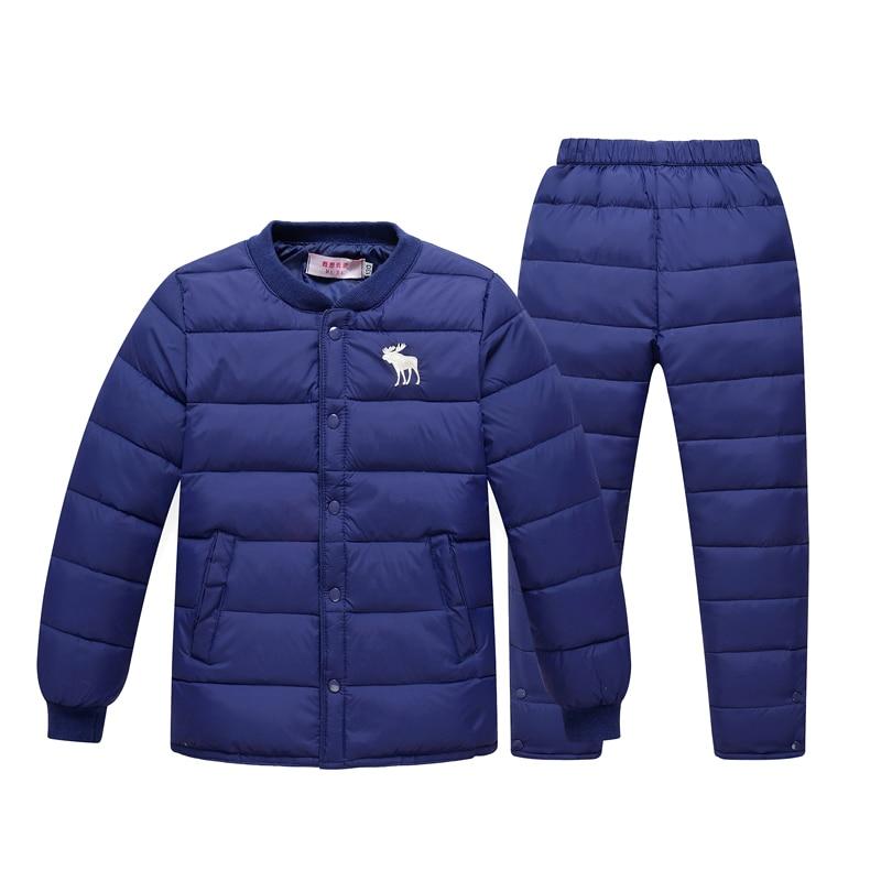 2016 new children jacket liner suit big boys girls baby pants suit down jacket<br>